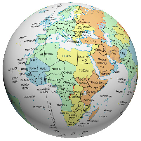 Africa time zone globe gumiabroncs Gallery